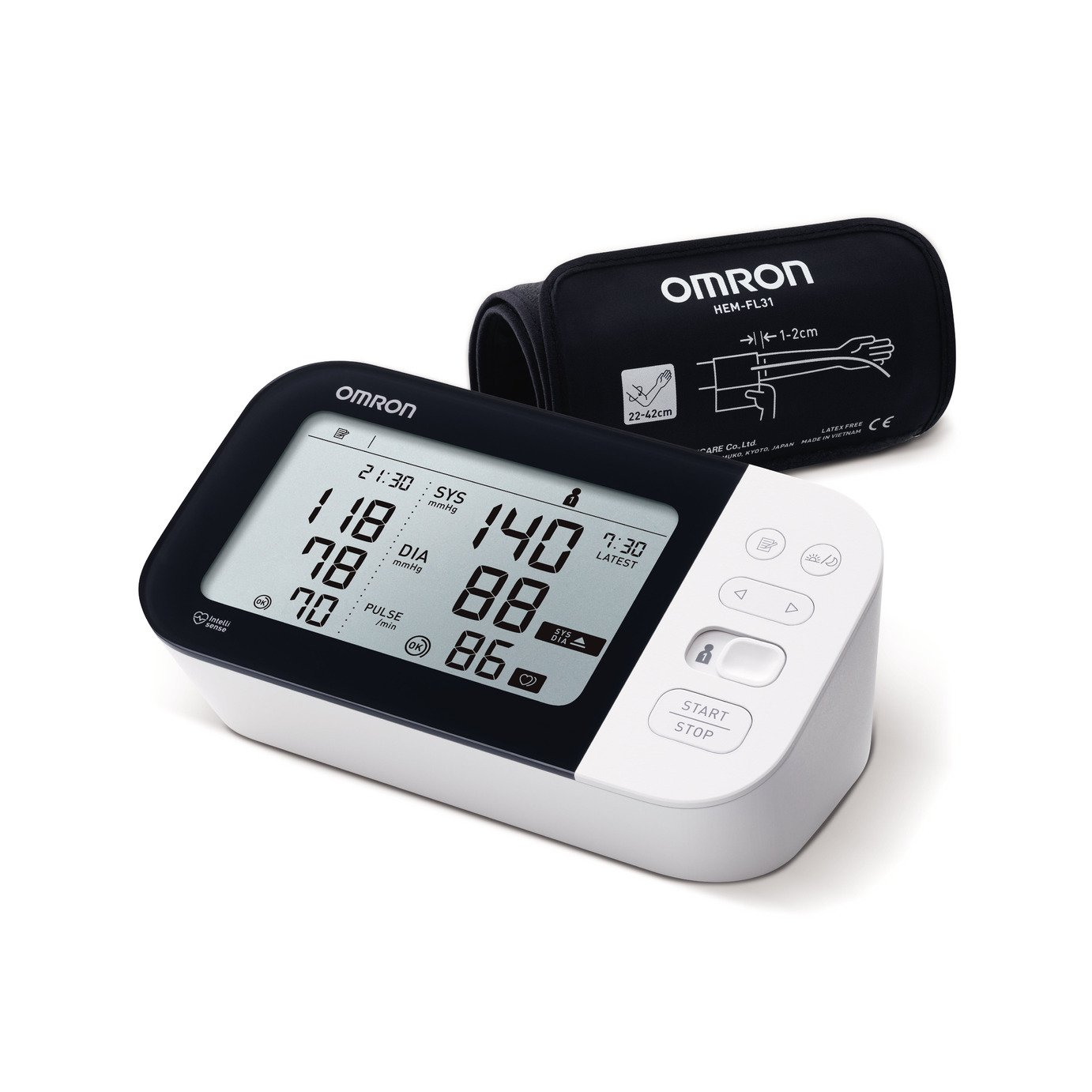 Omron Blood Pressure Monitor M7 INTELLI IT (HEM-7361T-EBK)